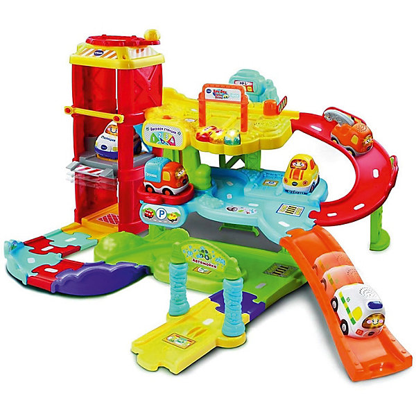 Фото - Vtech Интерактивный гараж Vtech vtech vtech набор детских машинок 3 штуки