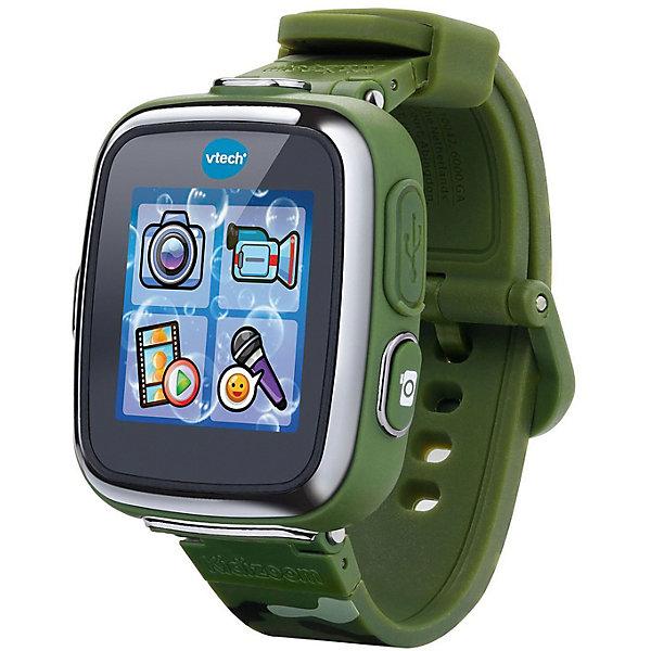 Детские наручные часы Kidizoom SmartWatch DX,  камуфляжныеДетские гаджеты<br>Характеристики:<br><br>• возраст: от 3 лет;<br>• материал: пластик, резина, металл;<br>• в наборе: часы, зарядное устройство, micro USB-кабель;<br>• размер дисплея: 5х5 см;<br>• длина ремешка: 22 см;<br>• разрешение камеры: 0,3 Мп;<br>• объем памяти: 256 Мб;<br>• тип аккумулятор: Li-Ion;<br>• вес упаковки: 400 гр.;<br>• размер упаковки: 12,7х27,9х8,7 см;<br>• страна бренда: Китай.<br><br>Наручные часы Kidizoom SmartWatch DX от бренда Vtech – многофункциональный гаджет для ребенка. Часы оснащены камерой для съемки видео и фото, диктофоном, будильником, шагомером, секундомером и таймером. Кроме того, в устройстве есть калькулятор, приложения для спортивных игр и 5 игр, включающих взаимодействие с датчиком движения.<br><br>На выбор ребенка больше 50 вариантов заставок и циферблатов для отображения времени. К заснятым кадрам, видеороликам и аудиозаписям можно применять забавные эффекты обработки. С помощью USB-кабеля материалы можно перенести на компьютер.<br><br>При полной зарядке часы непрерывно работают до двух недель. Гаджет и ремешок выполнены из прочных качественных материалов, устойчивых к механическому воздействию.<br><br>Детские наручные часы Kidizoom SmartWatch DX, камуфляжные можно купить в нашем интернет-магазине.<br>Ширина мм: 22; Глубина мм: 5; Высота мм: 0; Вес г: 400; Цвет: темно-зеленый; Возраст от месяцев: 36; Возраст до месяцев: 2147483647; Пол: Унисекс; Возраст: Детский; SKU: 8529785;