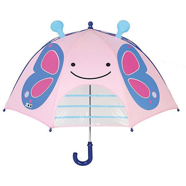 Зонт детский SkipHop БабочкаДетские зонты<br>Характеристики:<br><br>• возраст: от 3 лет<br>• диаметр: 72,5 см.<br>• зонт-трость<br>• материал: пластик, текстиль, металл<br>• особенности:  оригинальное оформление; специальное окошко; удобная ручка; безопасная конструкция<br>• страна бренда: США<br><br>С замечательным зонтом Skip Hop ребёнку не страшна дождливая погода.Передняя сторона имеет прозрачное окошко, чтобы открытый зонт не мешал обзору.<br><br>Зонт имеет простой и удобный для ребенка механизм открывания и складывания. Металлическая ручка дополнена цветной рукояткой. В сложенном виде зонт имеет форму трости, застежка декорирована тематической фурнитурой. Купол зонта изготовлен из прочной водоотталкивающей ткани.<br><br>Зонт детский SkipHop Бабочка можно купить в нашем интернет-магазине.
