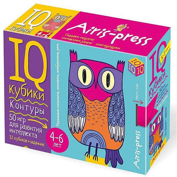 АЙРИС-пресс Умные кубики 50 игр для развития интеллекта Контуры