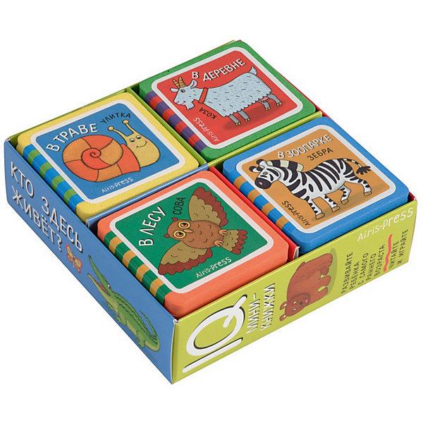 АЙРИС-пресс Комплект из 4 мини-книжек Эва Кто здесь живёт? набор книжек малышек eva веселые зверята комплект из 4 книг