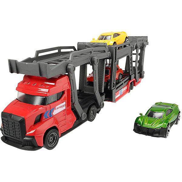 Автовоз Dickie Toys грузовик и 3 машинки, 28 см