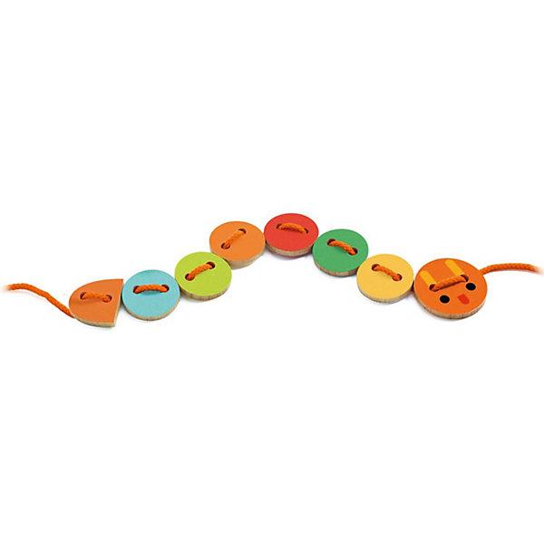 Купить Развивающая игрушка Djeco Шнуровка Ласса , Китай, разноцветный, Унисекс