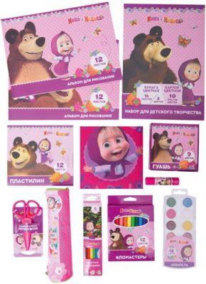 Набор для творчества  Маша и Медведь , 12 предметов, артикул:8539765 - Школьная канцелярия