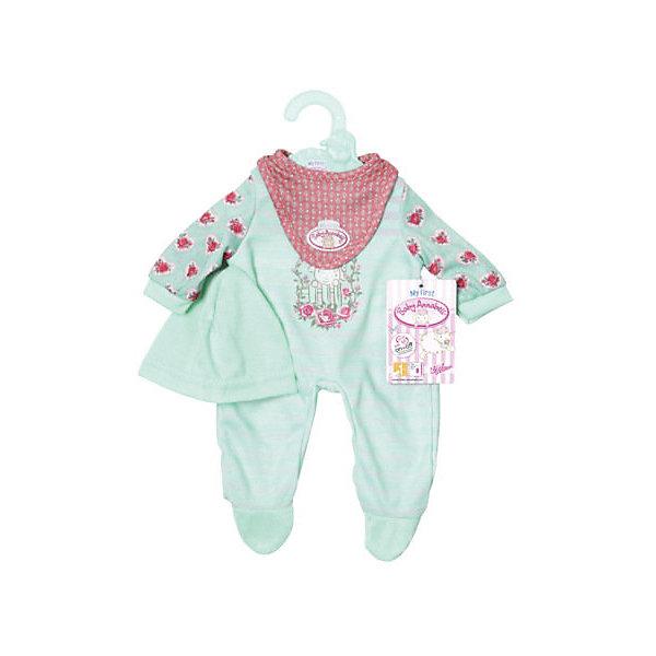 Zapf Creation Одежда для куклы my first Baby Annabell мятного цвета , 36 см zapf creation одежда для куклы my first baby annabell платье цвет красный