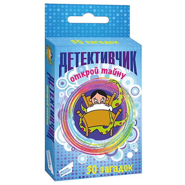 Настольная игра Dream Makers Детективчик 1. CardsИгры в дорогу<br>Характеристики:<br><br>• возраст: от 10 лет;<br>• количество игроков: 2-8;<br>• время игры: 15 мин.;<br>• в наборе: 30 карточек, правила игры;<br>• вес упаковки: 80 гр.;<br>• размер упаковки: 24,6х18,3х8 см;<br>• страна бренда: Россия.<br><br>В игре «Детективчик 1. Cards» от Dream Makers игрокам предстоит разгадывать тайну каждой детективной истории. Ведущий зачитывает подпись к иллюстрированной карточке, показывает ее другим участникам и сам читает разгадку. Побеждает тот, кто узнает ответ раньше других, задавая правильные вопросы.<br><br>Игру детскую настольную «Детективчик 1. Cards» можно купить в нашем интернет-магазине.<br>Ширина мм: 246; Глубина мм: 183; Высота мм: 80; Вес г: 80; Возраст от месяцев: 120; Возраст до месяцев: 168; Пол: Мужской; Возраст: Детский; SKU: 8541612;