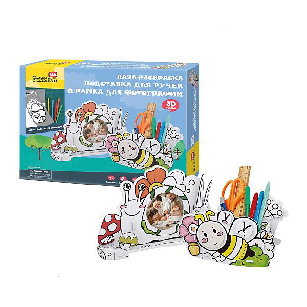 CubicFun Пазл- раскраска 3D Пчела и улитка