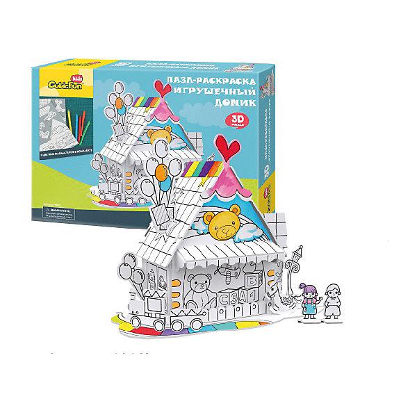 CubicFun Пазл- раскраска 3D CubicFun Игрушечный домик