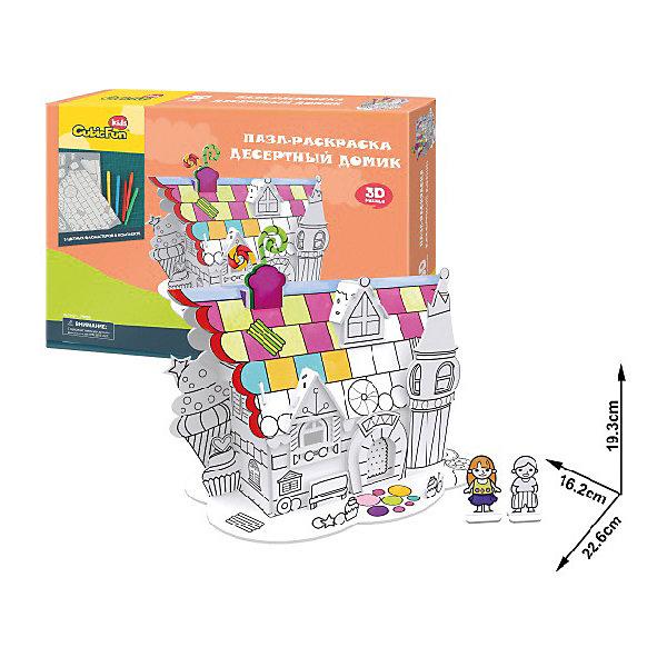 CubicFun Пазл- раскраска 3D CubicFun Десертный домик