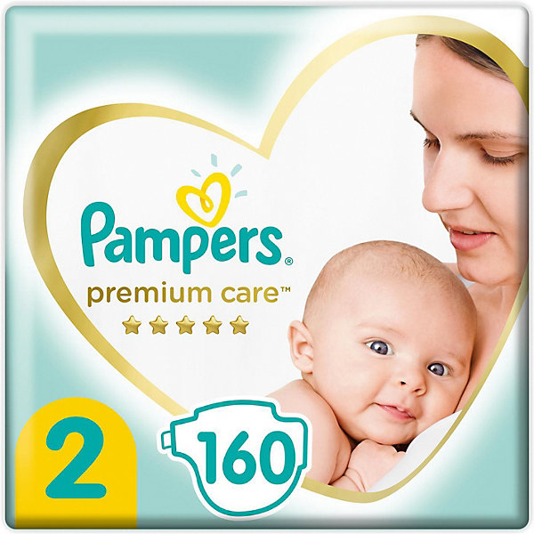 Pampers Подгузники Pampers Premium Care 4-8 кг, размер 2, 160 шт.
