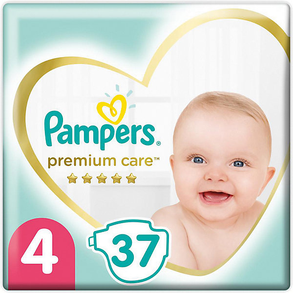 Pampers Подгузники Pampers Premium Care 9-14 кг, размер 4, 37 шт. подгузники pampers premium care new baby 2 4 8 кг 160 шт