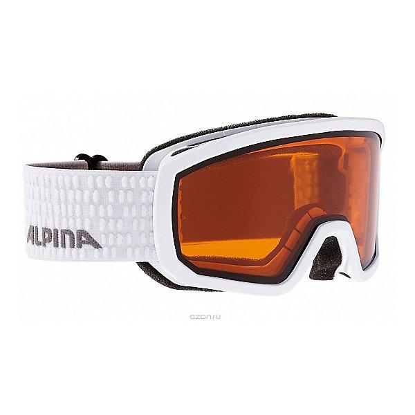 Alpina Горнолыжные очки Alpina SCARABEO JR. DH white DH zyl. S2/DH zyl. S2 очки горнолыжные alpina challenge 2 0 dh цвет белый