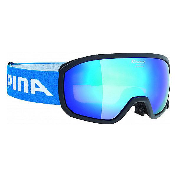Alpina Горнолыжные очки Alpina SCARABEO JR. MM black MM blue sph. S3/MM blue sph. S3 alpina testido green matt black blue mirror s3