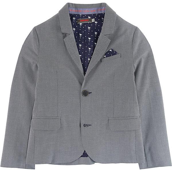 Куртка Catimini для мальчикаВерхняя одежда<br>Характеристики товара:<br><br>• цвет: серый;<br>• состав ткани: 100% хлопок;<br>• подкладка: 100% полиэстер;<br>• сезон: круглый год;<br>• тип: нарядная модель;<br>• воротник с лацканами;<br>• застежка: на пуговицах;<br>• подкладка с оригинальным рисунком; <br>• имитация карманов;<br>• небольшой носовой платок в кармане;<br>• страна бренда: Франция.<br><br>Классический пиджак для мальчика от известного французского производителя Catimini поможет создать торжественный образ на любом мероприятии, а также эффектно дополнить повседный наряд. Модель создана таким образом что красиво и стильно смотрится с различным низом - как с классическими брюками так и с джинсами.<br><br>Пиджак Catimini выполнен из натурального хлопка, ткань в мелкий рубчик. Дополнен классическим воротником с лацканами, небольшим новосвым платком в нагрудном кармане, застегивается на пуговицы. Имеет оригинальную подкладку.<br><br>Пиджак для мальчика от Catimini  (Кантимини) можно купить в нашем интернет-магазине.<br>Ширина мм: 356; Глубина мм: 10; Высота мм: 245; Вес г: 519; Цвет: синий; Возраст от месяцев: 48; Возраст до месяцев: 60; Пол: Мужской; Возраст: Детский; Размер: 110,122,116,140,128,104,152,158/164; SKU: 8549634;