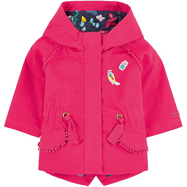 Парка Catimini для девочкиВерхняя одежда<br>Характеристики товара:<br><br>• цвет: синий/розовый;<br>• состав ткани: 100% хлопок; <br>• пол: девочки;<br>• сезон: демисезон;<br>• тип: парка;<br>• легкая модель; <br>• расклешенный покрой; <br>• длинные рукава реглан;<br>• карманы с клапаном;<br>• застежка на молнию под планкой на кнопках;<br>• клапаны на кнопках-застежках;<br>• затягивающий шнурок на поясе; <br>• декоративные нашивки;<br>• декоративная тесьма;<br>• подкладка с оригинальным рисунком;<br>• застежка: молния;<br>• капюшон НЕ съемный;<br>• страна бренда: Франция.<br><br>Парка для девочки от известного французского производителя Catimini это легкая, яркая и оригинальная модель, идеальна для прогулок в межсезонье или прохладными летними вечерами. Парка Catimini выполнена в ярком розовом цвете, модель создана специально так, чтобы подходить к любому стилю: деловому, спортивному, casual. <br><br>Особенностью данной модели является декоративные нашивки и контрастная подкладка с тропическим принтом. Модный дизайн и комфорт обязательно понравятся вашему ребенку. <br><br>Парку для девочки от Catimini  (Кантимини) можно купить в нашем интернет-магазине.<br>Ширина мм: 356; Глубина мм: 10; Высота мм: 245; Вес г: 519; Цвет: розовый; Возраст от месяцев: 24; Возраст до месяцев: 36; Пол: Женский; Возраст: Детский; Размер: 98,104,80,74,86; SKU: 8549647;