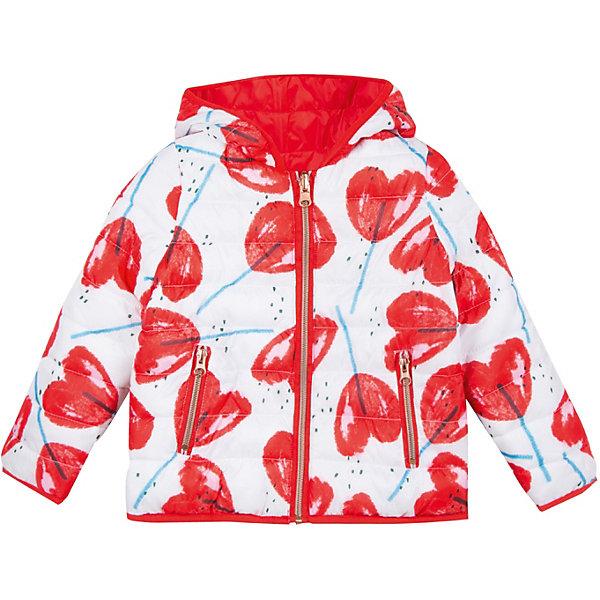 Куртка Catimini для девочкиВерхняя одежда<br>Характеристики товара:<br><br>• цвет: белый/красный;<br>• состав ткани: 100% Полиэстер<br>• подкладка: 88 % Полиэстер 12% полиамид<br>• набивка: 100% Полиэстер;<br>• сезон: демисезон;<br>• пол: девочки<br>• тип: двусторонний пуховик;<br>• ткань водоотталкивающая;<br>• застежка: молния;<br>• капюшон НЕ съемный;<br>• эластичные манжеты;<br>• два кармана;<br>• оригинальный принт;<br>• страна бренда: Франция.<br><br>Двусторонняя куртка для девочки от известного французского производителя Catimini это легкий и уютный пуховик на прохладную погоду от +10 градусов. В дизайне присутствуют яркие цвета и сочный принт. Многообразие оттенков позволяет создать бесконечное число образов с самым разным низом – джинсами, спортивными брюками, юбкой, платьем и т.д.<br><br>Изделие отлично удерживает тепло, благодаря качественным материалам. На ощупь материал приятный и мягкий к телу, выглядит матовым, без глянцевого блеска.  Куртка Catimini снабжена большим несъемным капюшоном, прочной молнией и двумя боковыми карманами. Особенностью моделя является возможность носить ее с двух сторон. Отличная куртка прослужит вам долгое время.<br><br>Двустороннюю  куртку для девочки от Catimini  (Кантимини) можно купить в нашем интернет-магазине.<br>Ширина мм: 356; Глубина мм: 10; Высота мм: 245; Вес г: 519; Цвет: белый; Возраст от месяцев: 48; Возраст до месяцев: 60; Пол: Женский; Возраст: Детский; Размер: 110,140,122,98,104,152,116,128,158/164; SKU: 8549650;