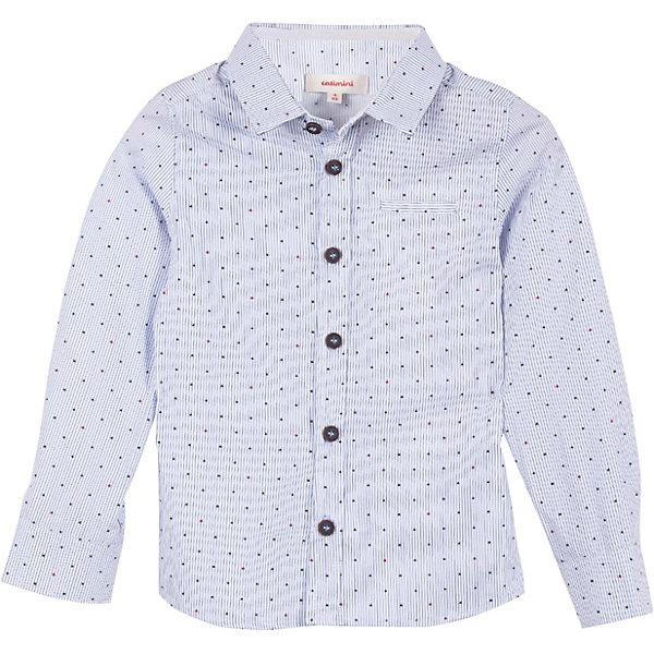 Рубашка Catimini для мальчикаБлузки и рубашки<br>Характеристики товара:<br><br>• цвет: голубой в полоску<br>• пол: мальчики<br>• состав ткани: 100% хлопок<br>• оригинальный принт<br>• застежка: пуговицы<br>• длинные рукава<br>• стиль и качество<br>• страна бренда: Франция<br><br>Легкая рубашка с длинным рукавом для мальчика  Catimini (Катимини) удобно сидит по фигуре. Классическая белая рубашка с оригинальным принтом сделана из натуральной хлопковой ткани. Отличный способ обеспечить ребенку комфорт и аккуратный внешний вид - надеть детскую рубашку от Catimini. Детская рубашка с длинным рукавом сшита из приятного на ощупь материала, который позволяет коже дышать.<br><br>Рубашку  Catimini (Катимини)  для мальчика можно купить в нашем интернет-магазине.<br>Ширина мм: 174; Глубина мм: 10; Высота мм: 169; Вес г: 157; Цвет: синий; Возраст от месяцев: 36; Возраст до месяцев: 48; Пол: Мужской; Возраст: Детский; Размер: 104,128,116,152,110,122,140,158/164; SKU: 8549673;