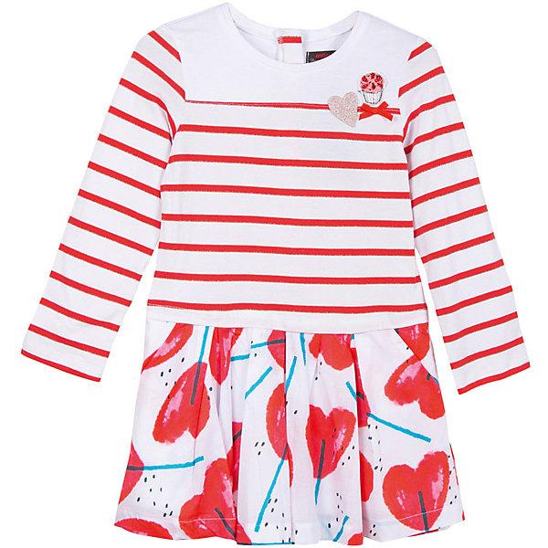 Платье Catimini для девочкиПлатья и сарафаны<br>Характеристики товара:<br><br>• цвет: белый/красный<br>• пол: девочки<br>• состав ткани: 100% хлопок<br>• оригинальный рисиунок<br>• кобинация тканей: Верх: Джерси из хлопка, Низ: Перкаль из хлопка<br>• дышащий материал<br>• свободный крой<br>• комфортная посадка<br>• круглый вырез горловины <br>• длинные рукава<br>• потайная молния сзади<br>• страна бренда: Франция<br><br>Французский бренд Catimini  (Кантимини) - это стильный продуманный дизайн и неизменно высокое качество исполнения.  Порадуйте ребенка обновкой от проверенного производителя!<br><br>Такая стильная модель обеспечит ребенку комфорт благодаря качественному материалу и продуманному крою. С помощью неё можно удобно одеться по погоде. Очень модная вещь! Выглядит нарядно и аккуратно.<br><br>Платье для девочки от Catimini  (Кантимини) можно купить в нашем интернет-магазине.<br>Ширина мм: 236; Глубина мм: 16; Высота мм: 184; Вес г: 177; Цвет: белый; Возраст от месяцев: 36; Возраст до месяцев: 48; Пол: Женский; Возраст: Детский; Размер: 104,116,86,140,152,98,110,122,128,158/164; SKU: 8549677;