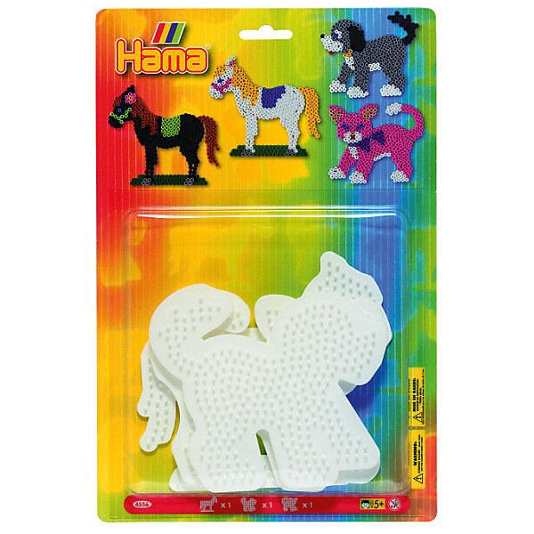 Основы для термомозаики Hama Perlen Лошадь. Собака. Кошка, 3 шт.Термомозаика<br>Характеристики:<br><br>• возраст: от 5 лет;<br>• материал: пластик;<br>• комплектация: 3 эл.;<br>• вес: 115 гр;<br>• размер: 17x10х2 см;<br>• бренд: Hama Perlen.<br><br>Основы для термомозаики лошадь, собака, кошка подойдут для развития детей от 5 лет. Эти основы позволят создать красивое изделие в форме лошадки, собачки или кошки.<br><br>Представленный набор позволяет развивать моторику рук, усидчивость и внимательность. Производитель Hama предлагает большой выбор наборов для детей разного возраста. <br><br>Основы для термомозаики лошадь, собака, кошка можно купить в нашем интернет-магазине.<br>Ширина мм: 20; Глубина мм: 100; Высота мм: 170; Вес г: 115; Цвет: белый; Возраст от месяцев: 60; Возраст до месяцев: 168; Пол: Унисекс; Возраст: Детский; SKU: 8561262;
