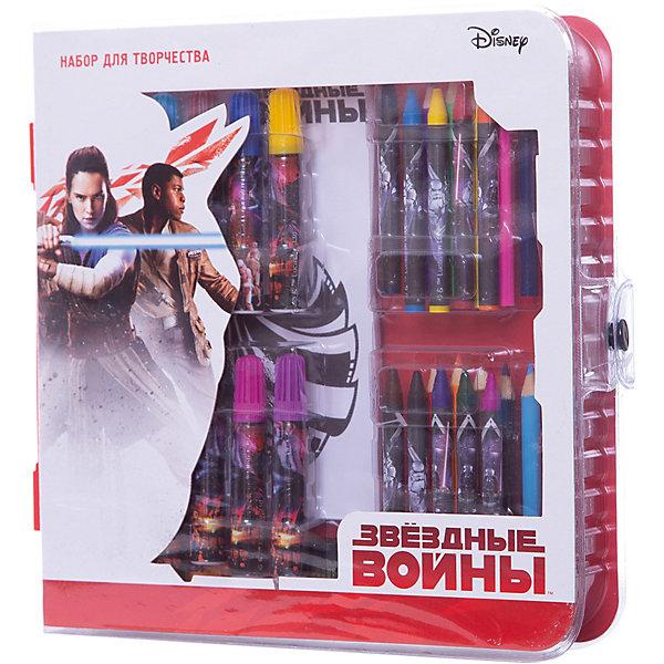 Набор для творчества Limpopo Star Wars Art Set с трафаретамиКанцелярские наборы<br>Характеристики:<br><br>• возраст: от 6 лет;<br>• материал: пластик, бумага;<br>• цвет: белый;<br>• вес: 325  гр;<br>• размер: 26х24,6х3,7 см;<br>• бренд: Lucasfilm.<br> <br>Набор для творчества Lucasfilm «Star Wars Art Set» подарит яркие впечатления и станет отличным подарком для мальчика. Ребенок почувствует себя настоящим супергероем, когда будет раскрашивать раскраску с использованием трафаретов. В блокноте ребенок сам сможет запечатлеть любимые моменты из фильма. Получив набор ребенок найдет для себя много нового и интересного.<br><br>Набор для творчества Lucasfilm «Star Wars Art Set»  можно купить в нашем интернет-магазине.<br>Ширина мм: 260; Глубина мм: 246; Высота мм: 37; Вес г: 325; Цвет: белый; Возраст от месяцев: 72; Возраст до месяцев: 144; Пол: Мужской; Возраст: Детский; SKU: 8563843;