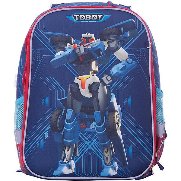 Ранец Limpopo Super bag Premium Tobot, без наполненияРанцы<br>Характеристики:<br><br>• возраст: от 6 лет;<br>• цвет: синий;<br>• материал: EVA, полиэстер;<br>• вес: 750  гр;<br>• размер: 30х38х15,5 см;<br>• бренд: Mattel.<br> <br>Каркасный Ранец  Super bag Premium с дизайном «Tobot» - это усовершенствованная модель классического Super Baga с эргономичной спинкой и передней EVA-крышкой. Совершенство выражено в ультрасовременном материале - нейлоне, который держит форму и превращает наш рюкзак в классический каркасный ранец, но без утяжеления доп вставок из полипропилена, ЕВА-материалов или пенки, а лишь за счет ткани.<br><br>Также ранец имеет дополнительную модификацию лямок и спинки - теперь ранец регулируется по росту ребенка (система регулировки спинки) и по фигуре (противооткиды). Ранец имеет 2 отделения с органайзерами - теперь внутреннее пространство ранца отлично организовано, и боковые карманы на резинке.<br> <br>Каркасный Ранец  Super bag Premium с дизайном «Tobot»  можно купить в нашем интернет-магазине.<br>Ширина мм: 380; Глубина мм: 300; Высота мм: 150; Вес г: 750; Цвет: синий; Возраст от месяцев: 72; Возраст до месяцев: 108; Пол: Мужской; Возраст: Детский; SKU: 8563855;