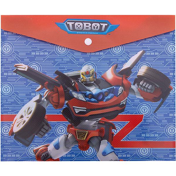 Купить Папка для тетрадей Limpopo Tobot с кнопкой, красно-синяя, Россия, синий, Мужской