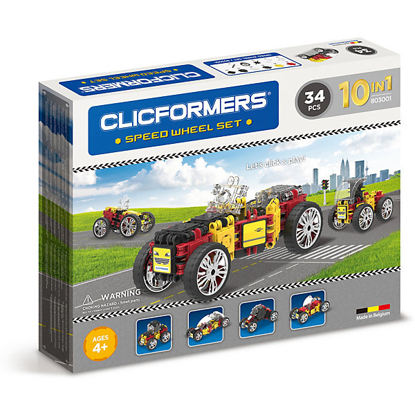 Clicformers Конструктор CLICFORMERS Speed Wheel set 34 детали rovan baja 5b nylon super star wheel hub set with beadlock ring and screws free shipping