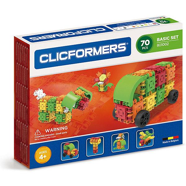 Clicformers Конструктор CLICFORMERS Basic Set 70 деталей все цены