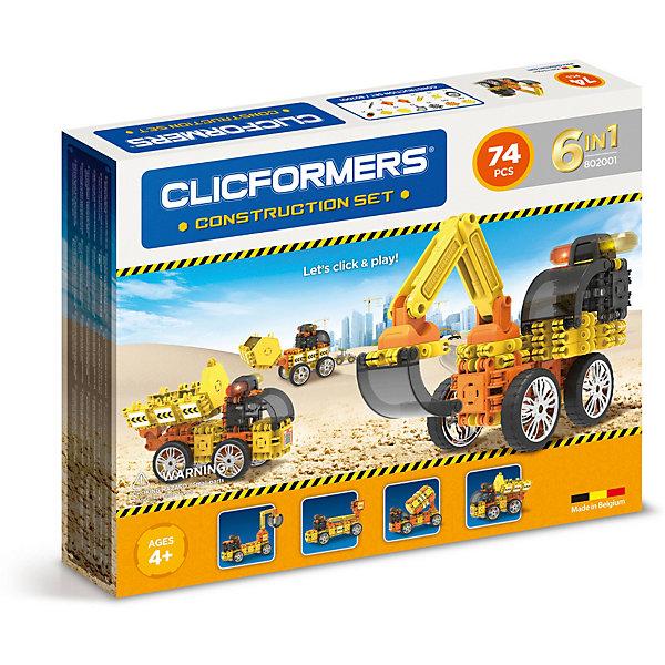 Clicformers Конструктор CLICFORMERS Construction set 74 деталей конструкторы clicformers construction set mini 30 деталей