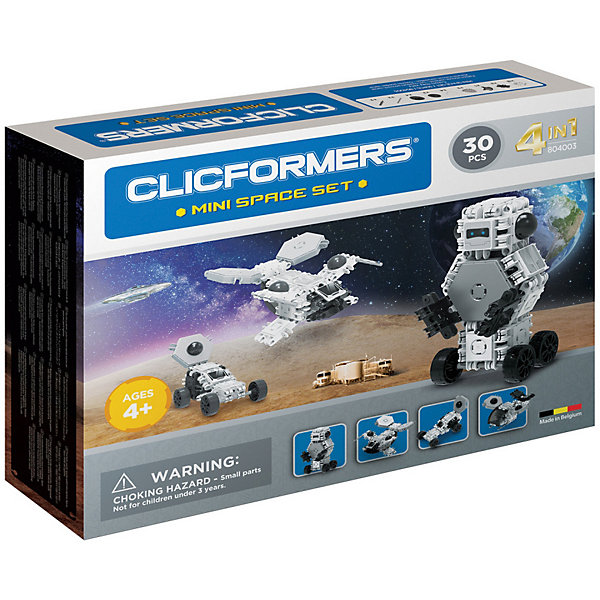 Clicformers Конструктор CLICFORMERS Space set mini 30 деталей конструкторы clicformers space set mini 30 деталей