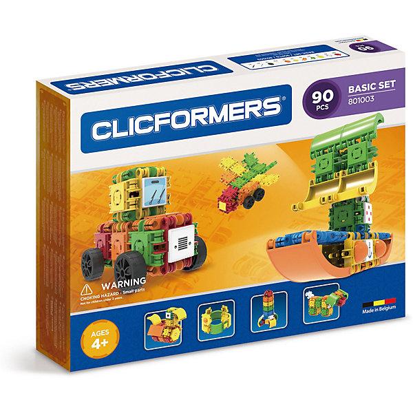 Clicformers Конструктор CLICFORMERS Basic Set 90 деталей конструкторы clicformers construction set mini 30 деталей