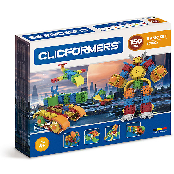 Clicformers Конструктор CLICFORMERS Basic Set 150 деталей конструкторы clicformers construction set mini 30 деталей