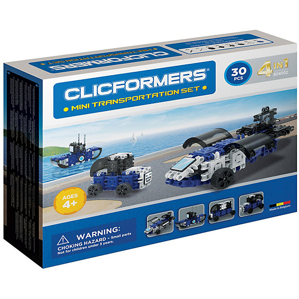 Clicformers Конструктор CLICFORMERS Transportation set mini 30 деталей laser pegs светящийся конструктор 30 в 1 laser pegs археология 276 деталей