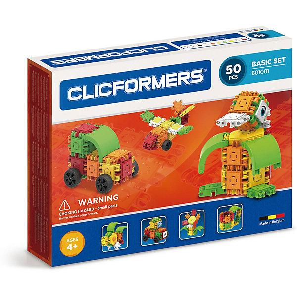 Clicformers Конструктор CLICFORMERS Basic Set 50 деталей конструкторы clicformers construction set mini 30 деталей