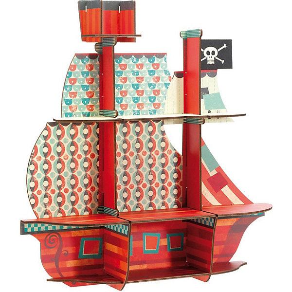 Купить 3D пазл-полочка Djeco Пиратский корабль , Китай, Унисекс