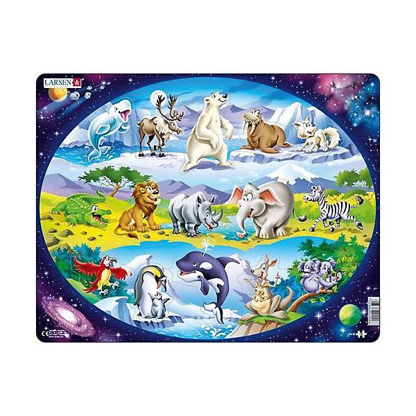 Larsen Пазл Планета животных, 15 элементов