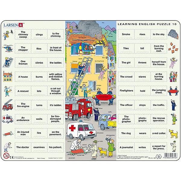 Купить Пазл Larsen Изучаем английский 10 , 54 элемента, Норвегия, Унисекс