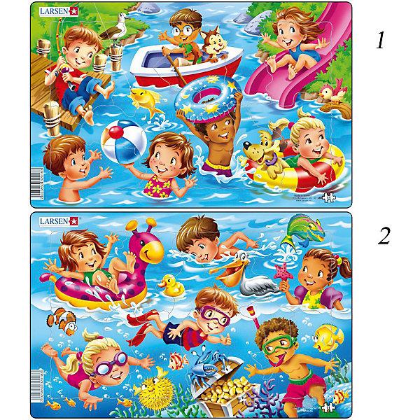 Купить Пазл Larsen Дети на море , 11 элементов, Норвегия, Унисекс