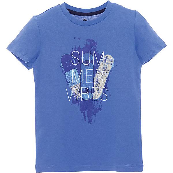 Футболка Z Generation для мальчикаФутболки, поло и топы<br>Характеристики товара:<br><br>• цвет: синий;<br>• состав ткани: 100% хлопок;<br>• сезон: лето;<br>• короткие рукава;<br>• страна бренда: Франция.<br><br>Товары для детей от известного бренда Z Generation - стильные вещи, которые добавят гардероб ребенка особый европейский шик. Синяя футболка для ребенка из дышащего натурального хлопка может стать основой для создания множества нарядов. Принтованная футболка для детей от бренда Z Generation - это стильный дизайн от французских специалистов и высокое качество проработки мельчайших деталей. Детская футболка декорирована модным эффектным принтом.<br><br>Футболку Z Generation (Зет Дженерейшен) для мальчика можно купить в нашем интернет-магазине.<br>Ширина мм: 199; Глубина мм: 10; Высота мм: 161; Вес г: 66; Цвет: голубой; Возраст от месяцев: 36; Возраст до месяцев: 48; Пол: Мужской; Возраст: Детский; Размер: 104,116,140,110,128,152,98,158,86; SKU: 8571888;