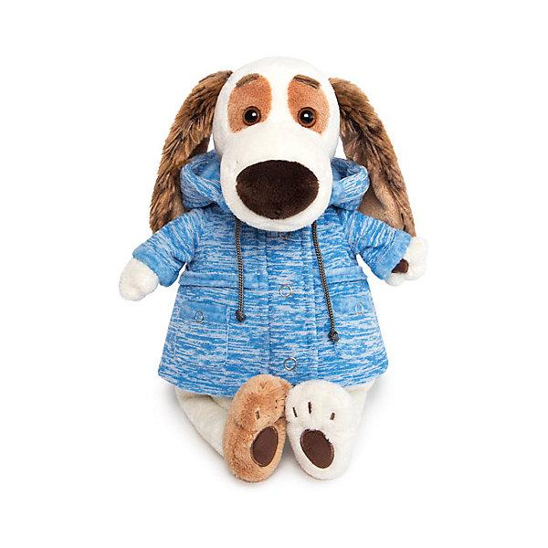 Купить Мягкая игрушка Budi Basa Собака Бартоломей в голубой куртке B&Co , 27 см, Россия, бежевый, Женский
