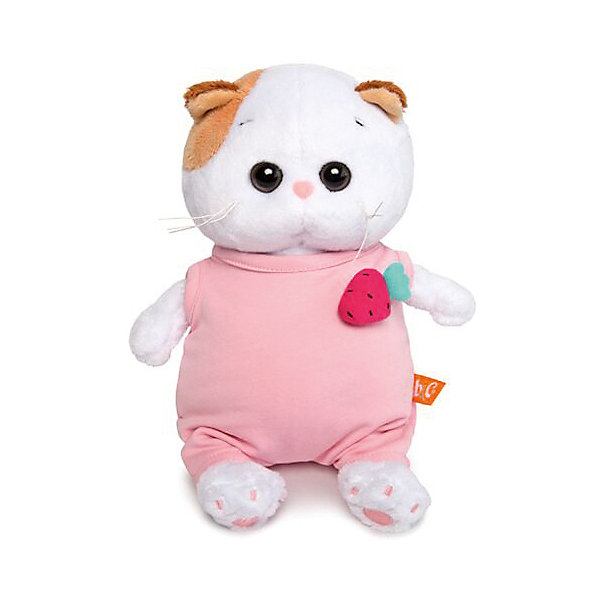 Budi Basa Мягкая игрушка Budi Basa Кошечка - Baby в розовом комбинезоне с клубничкой, 20 см