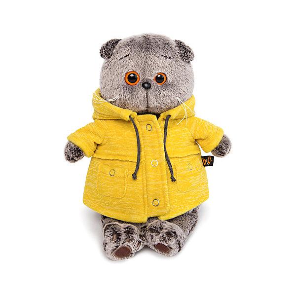 Купить Мягкая игрушка Budi Basa Кот Басик в желтой куртке B&Co , 19 см, Россия, коричневый, Женский