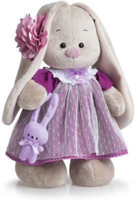 Мягкая игрушка Budi Basa Зайка Ми в платье цвета вишни, 25 см, артикул:8577926 - Мягкие игрушки