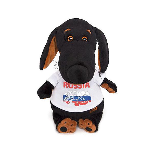 Budi Basa Мягкая игрушка Собака Ваксон в футболке с принтом Россия, 25 см