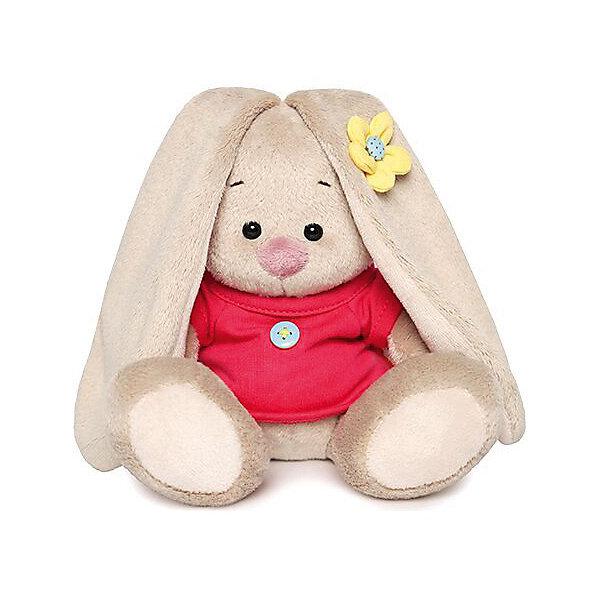 Мягкая игрушка Budi Basa Зайка Ми в малиновой футболке с пуговкой, 15 смМягкие игрушки зайцы и кролики<br>Характеристики:<br><br>• возраст: от 3 лет;<br>• материал: текстиль, плюш;<br>• высота игрушки: 15 см;<br>• вес упаковки: 210 гр.;<br>• размер упаковки: 13,5х13,5х13 см;<br>• страна бренда: Россия;<br>• подарочная упаковка.<br><br>Зайка Ми от компании Budi Basa – само обаяние. Плюшевая игрушка одета в футболку с пуговкой. У игрушки розовый носик, милая мордочка и длинные ушки. Игрушку приятно держать в руках и спать с ней в обнимку. Она выполнена из качественных безопасных материалов.<br><br>Мягкую игрушку Budi Basa «Зайка Ми в малиновой футболке с пуговкой», 15 см можно купить в нашем интернет-магазине.<br>Ширина мм: 135; Глубина мм: 135; Высота мм: 130; Вес г: 210; Цвет: бежевый; Возраст от месяцев: 36; Возраст до месяцев: 168; Пол: Женский; Возраст: Детский; SKU: 8577934;