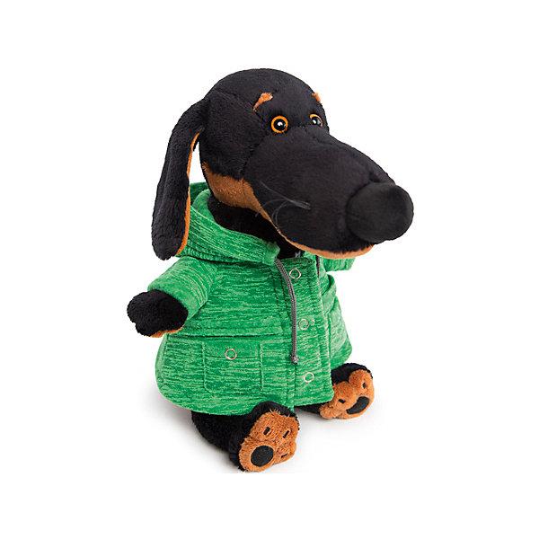 Budi Basa Мягкая игрушка Собака Ваксон в зеленой куртке B&Co, 25 см