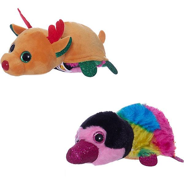 TEDDY Мягкая игрушка  Перевертыши Олень-Тукан, 16 см.