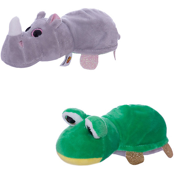 TEDDY Мягкая игрушка  Перевертыши Лягушка-Носорог, 16 см.