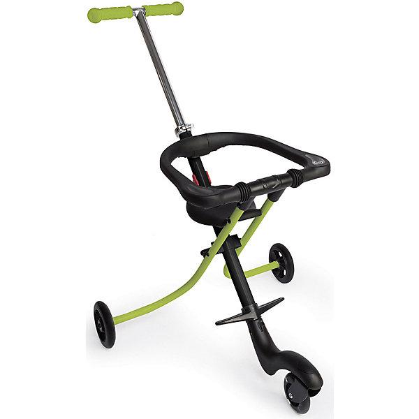 Каталка Happy Baby Racer, зеленыйКаталки для малышей<br>Характеристики товара:<br><br>• цвет: зеленый;<br>• возраст: от 12 месяцев;<br>• максимальный вес ребенка: 15 кг.;<br>• материал: металл, пластмасса;<br>• габариты в сложенном виде: 75х56х13 см.;<br>• габариты в разложенном виде: 90х56х89 см.;<br>• диаметр переднего колеса: 9 см.;<br>• диаметр задних колёс: 11,5 см.;<br>• ширина сиденья: 16,5 см.;<br>• длина сиденья: 15 см.;<br>• высота ручки: 54-89 см.;<br>• высота подножки: 15-24 см.;<br>• складывается быстро и компактно;<br>• переднее колесо: светящееся; <br>• страховочный бортик: поднимающийся страховочный бортик;<br>• колёса: прорезиненные;<br>• высота подножки: регулируемая;<br>• переднее колесо поворачивается на 360°;<br>• размер упаковки: 57х16х76 см.;<br>• вес: 3,75 кг.<br><br>Каталка Happy Baby «Racer» это совершенно новый стиль, который предназначен для активной прогулки или похода в магазин с ребенком. Каталка имеет 3 колеса, что обеспечивает обеспечивает маневренность, особенно в закрытых помещениях. <br><br>Благодаря удобной рукоятке с резиновыми накладками, управление каталкой простое и безопасное. Комфорт в использовании обеспечен регулировкой рукоятки, подножки, а также поднимающимся страховочным бортиком, уберегающим малыша от падения. <br><br>Каталка станет практичным приобретением, так как она складывается в два движения и после этого представляет собой очень компактную конструкцию, которую можно спрятать даже в самый узкий проём. <br><br>Каталку Happy Baby «Racer» можно купить в нашем интернет-магазине.<br>Ширина мм: 570; Глубина мм: 160; Высота мм: 760; Вес г: 3750; Цвет: schwarz/gr?n; Возраст от месяцев: 12; Возраст до месяцев: 2147483647; Пол: Унисекс; Возраст: Детский; SKU: 8580659;
