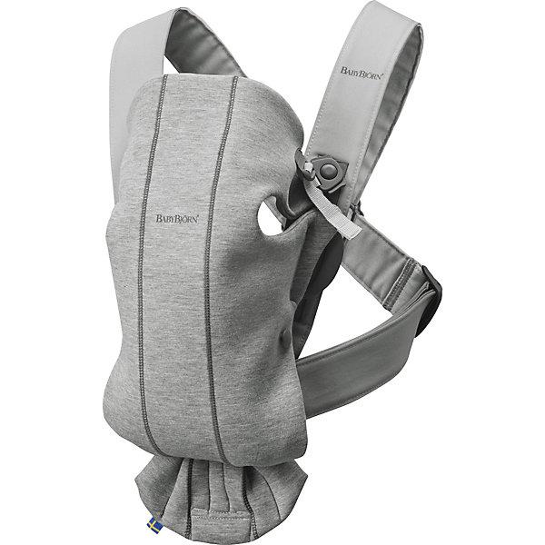 BabyBjorn Рюкзак-кенгуру BabyBjorn Mini Cotton Jersey babybjorn рюкзак для переноски ребенка one soft cotton mix цвет серый белый